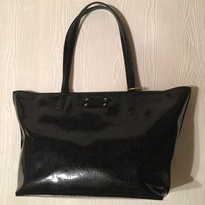 Kate Spade Harmony Heart Patent Leather Black Tote
